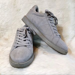 Misbehave Grey Faux Suede Lace Up Sneaker size 9
